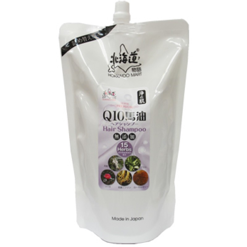浄の肌Q10馬油洗頭水 (環保補充裝 1,000ml)